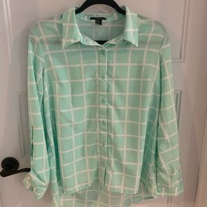 Mint 3/4 Sleeve Blouse